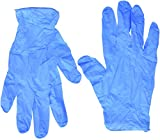 Semperguard Blue Nitrile Disposable Gloves Powder Free Textured 4 Mil Thickness Latex Free Food & Safety Glove (Large Box)