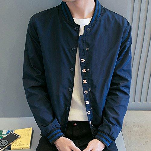 Gli Colore Di Uomini jacket Leggera xxxxl Giacca Autunno Solido Elegante Scuro Ylsz Alla Uomo E Blu Moda qwt1IW5wd