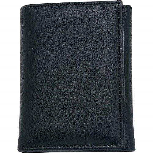 EmbassyTM Men's Solid Genuine Leather Tri-Fold Wallet