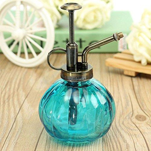 Tourwin 240ml pressione mano retrò bottiglia spray vetro pianta da giardino annaffiatoio strumento Blue