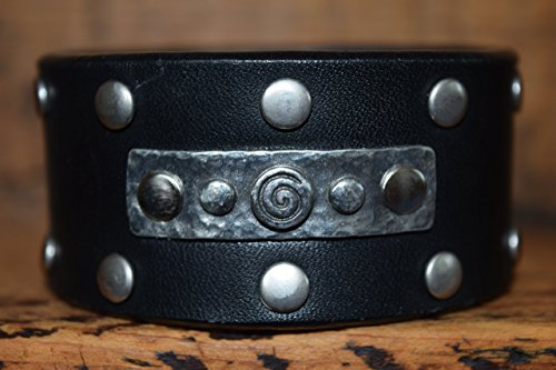Magnolia Studio Women's Adjustable Boho Upcycled Leather Bracelet Wristband Bangle Cuff Studded Jewelry (Cowgirls Outfits Ideas)