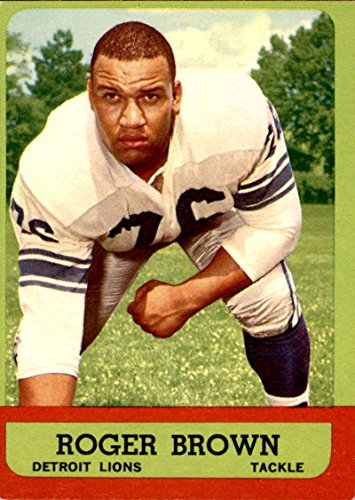 - Football NFL 1963 Topps #34 Roger Brown EX Excellent RC Rookie Lions