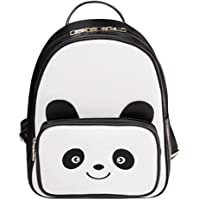 Powlance Baby Girl's Lovely Casual Women Girls Cartoon Panda Shoulder Ags Pu Artificial Leather Backpacks One Size B