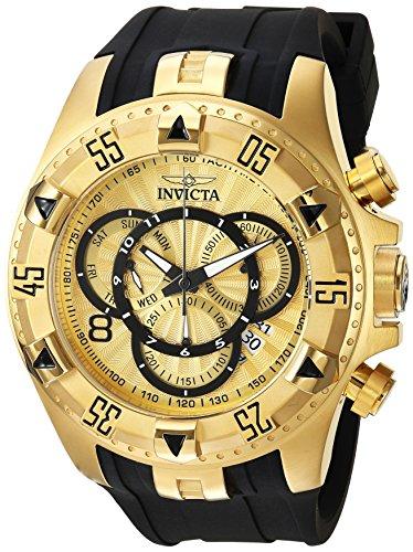 Black Dial Excursion - Invicta Men's Excursion Quartz Watch with Silicone Strap, Black, 26 (Model: 24273