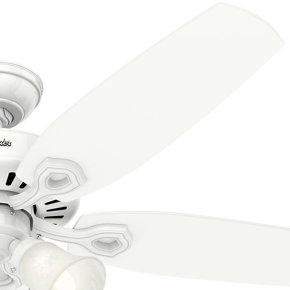 Hunter Indoor Ceiling Fan, with pull chain control - Builder Plus 52 inch, White, 53236 by Hunter Fan Company (Image #4)