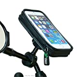 Waterproof Bike Scooter Mirror Mount Holder for iPhone 6 (4.7)