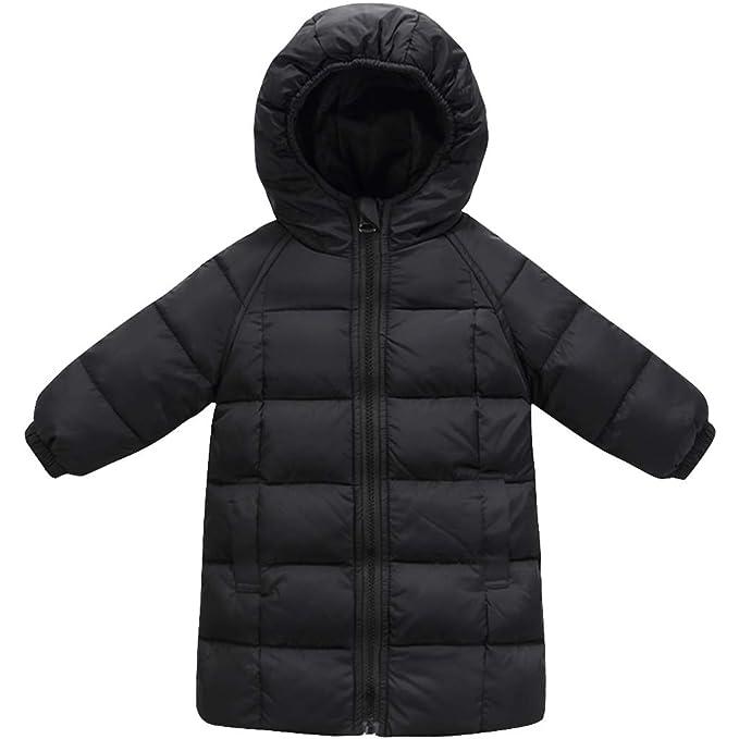 Chaqueta Plumas Invierno - Ropa de Abrigo Niños con Capucha Nieve Impermeable Ligero Abajo Chaqueta de