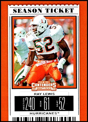 (2019 Panini Contenders Draft Picks Season Ticket #84 Ray Lewis Miami Hurricanes Official Collegiate Football Card of the NFL Draft)