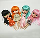 Big Head Dolls with Hair,12 inch Anime Dolls for Girls,4 Eyes Color Changing as Blyth Style Customize Your Doll