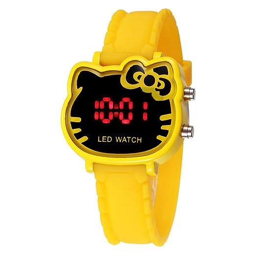 Hello Kitty - Reloj de Pulsera para niños con LED y diseño de Dibujos Animados, analógico, Digital, para niños: Amazon.es: Relojes