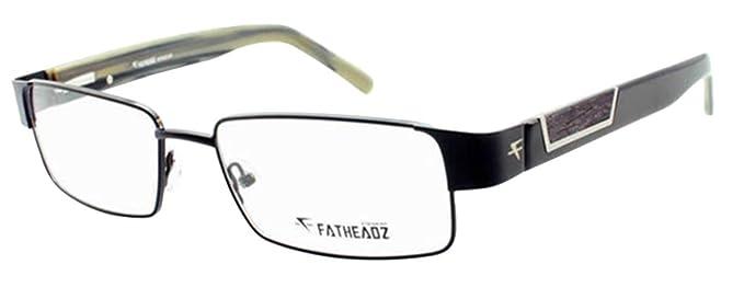 5c9f746fff Fatheadz Amplitude XL FH00186 Mens Extra Large Rectangular Black Glasses  (Black
