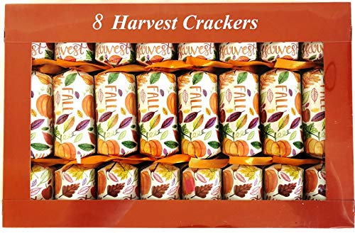 - Nantucket Fall Harvest Pumpkins Leaves Thanksgiving English Party Favors Crackers