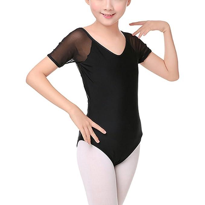37f3c765ceca Amazon.com  Zhuhaitf Kids Girls Black Gymnastics Athletic Leotard ...