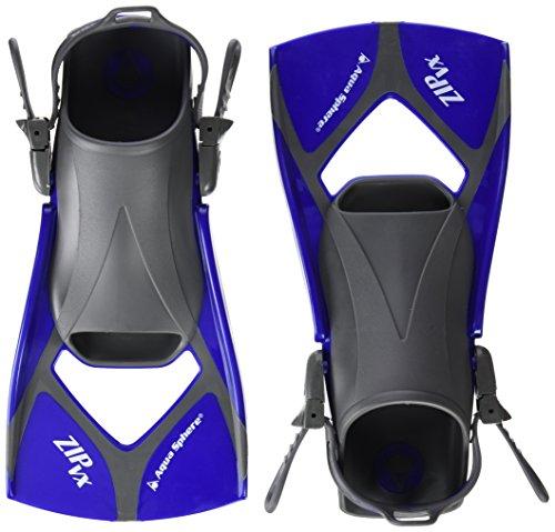- Aqua Sphere Zip VX Fitness Swim Fins, Blue/Grey, Large