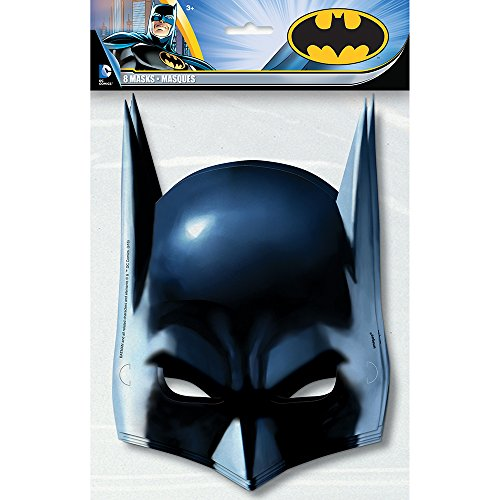 Batman Party Masks, 8ct (Superhero Themed Parties)