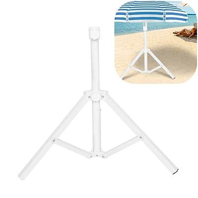 Simlug Foldable Beach Umbrella Stand Holder, Adjustable Portable Sun Umbrella Stand Support Base : Garden & Outdoor