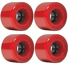 Kryptonics Star Trac Red Skateboard Wheels - 55mm 78a (Set of 4)