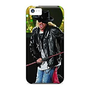 Great Hard Cell-phone Case For Iphone 5c With Support Your Personal Customized Fashion Guns N Roses Band Pattern MarieFrancePitre