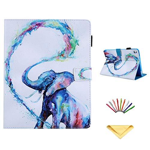 Uliking Leather Painting Rainbow Elephant