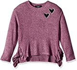 Amy Byer Girls' Big 7-16 Pull-Over Sweatershirt with Side Ruffle