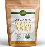 #1 Organic Maca Powder, Gelatinized from Raw for Enhanced Absorption, Vegan, Non-GMO, 1lb (16 ounce) Bag, USDA Certified, FREE Recipe Book!