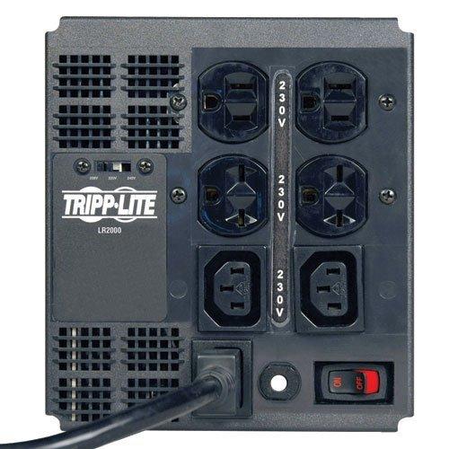 Tripp Lite LR2000 Line Conditioner 2000W AVR Surge 230V 8A 50/60Hz 5-15R 6-15R C13 (Renewed)