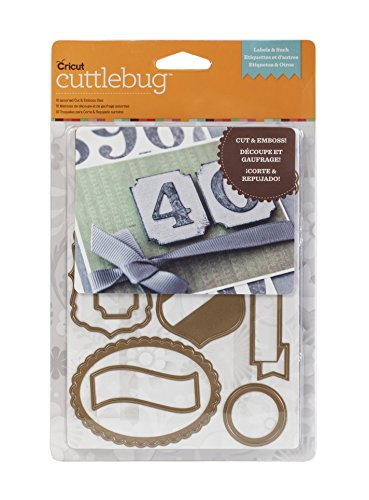 Cuttlebug Cricut Cuttlebug Labels and Such 10-Piece Cut and Emboss Die Set Cuttlebug Dies