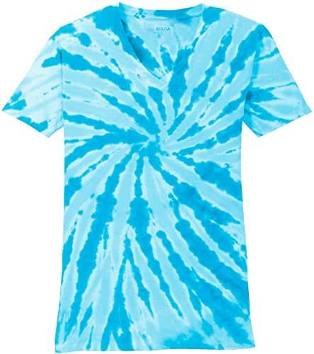 Koloa Surf Co. Ladies Colorful Tie-Dye V-Neck Tees in 10 Colors Sizes: XS-4XL