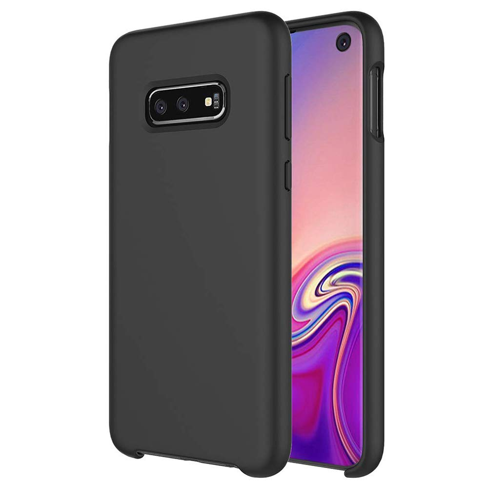 TIAMAT Galaxy S10e Silicone Case, Soft Touch, Liquid Silicone Case with Microfiber Cloth Lining Cushion and Wireless Charging Compatible for Samsung Galaxy S10e (5.8inch) - Black