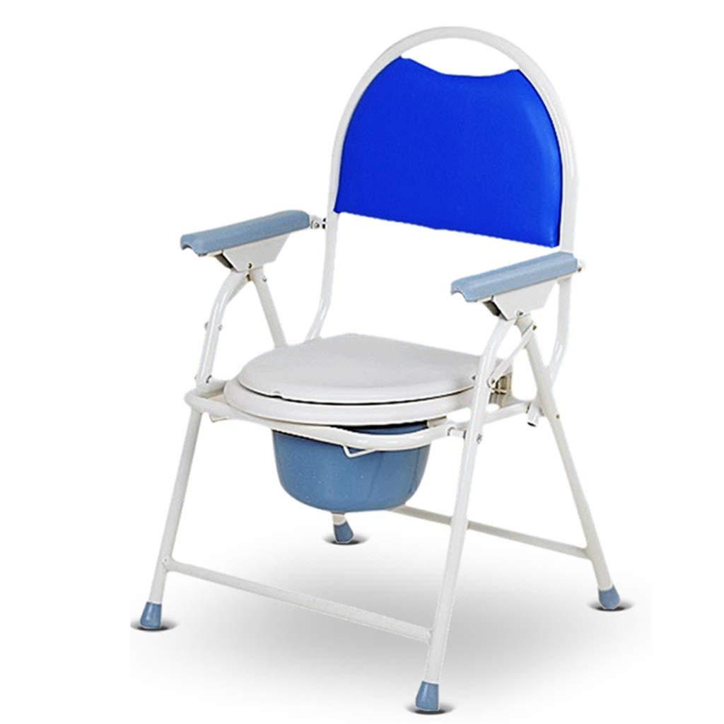 G-LXYZBQSHYP Bedside Commode Toilet Chair, Medical Folding Bathroom Safety Frame, for Elderly, Adults by G-LXYZBQSHYP