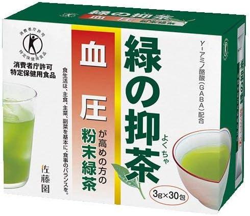 T 特保 血圧 が気になる方の トクホ の お茶 緑の抑茶 3g×30包 /セ/ 高血圧 特定保健用食品 粉末