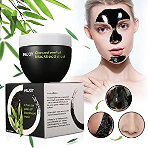 MEJOY Blackhead Removal Facial Mask, Deep Cleansing Purifying Whitening Mud Mask, Black Peel-off Mask(120ML)