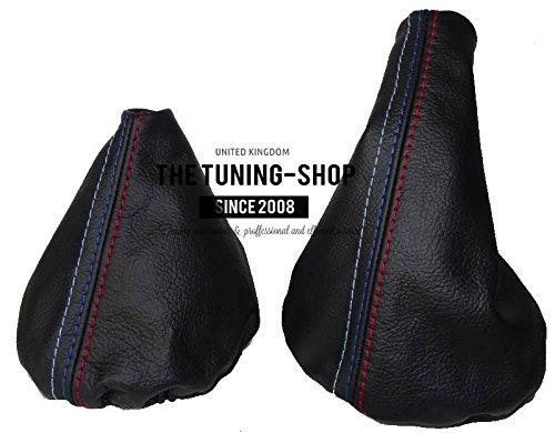 2005/ The Tuning-Shop Ltd MPOWER Gu/être pour Levier de Vitesses et Frein /à Main en Cuir Noir avec Coutures pour BMW E36/E46 Mod/èles 1991