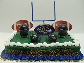 Brilliant Nfl Football Baltimore Ravens Birthday Cake Topper Set Featuring Birthday Cards Printable Opercafe Filternl