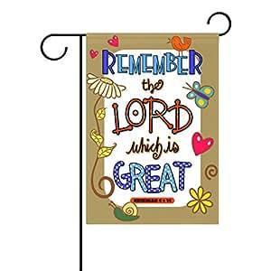 Duble cara Biblia las Escrituras recordar el Señor Que Es Gran Nehemiah poliéster casa jardín bandera Banner 12x 18/28x 40pulgadas para todo tipo de clima para boda fiesta