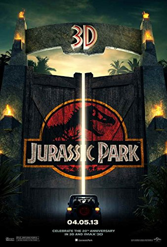 Jurassic Park 3D 2013 Movie Poster - Style A