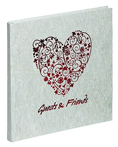 Sweetheart Guest Book - Pagna 30928Cardboard Guest Book 245x 245mm Red Sweet Heart 180s