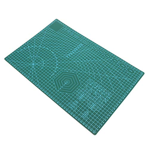 (RISHIL WORLD 45x30cm Non Slip Cutting Mat Double-Sided Self Healing Rotary Cutting Mat Board Tool Single Item.)