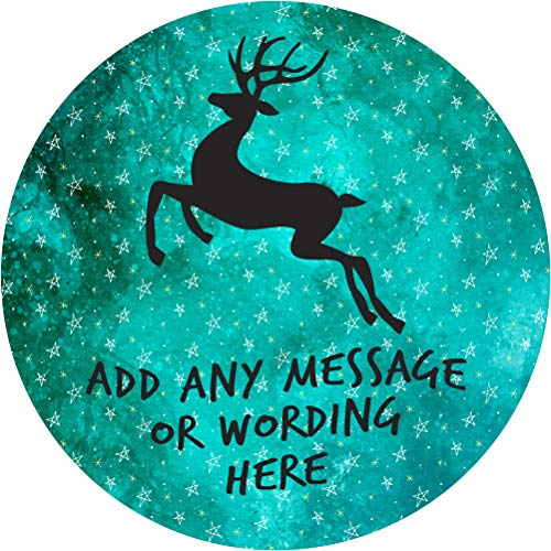 Christmas Reindeer Dancer Sticker Labels (12 Stickers, 2.5'' Inch Each) Personalized Seals Ideal for Party Bags, Sweet Cones, Favours, Jars, Presentations Gift Boxes, Bottles, Crafts ()