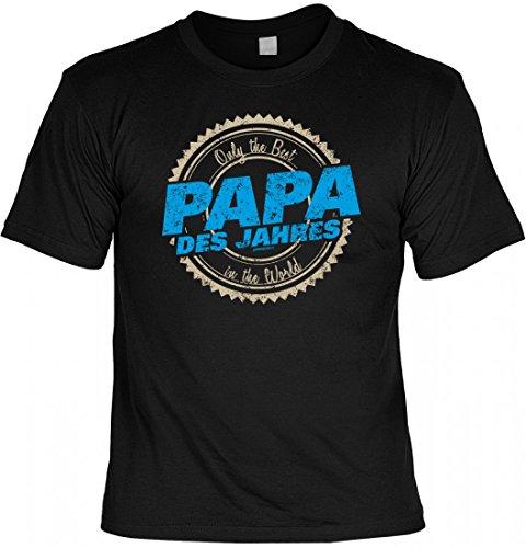 T-Shirt Vater - Only the Best - Papa des Jahres - Geschenk Idee mit Humor zum Vatertag oder Geburtstag - schwarz