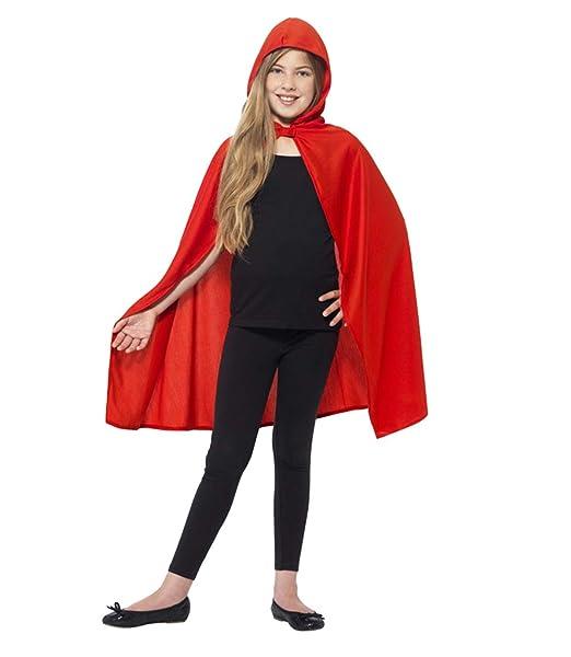 Largo Capa con Capucha Disfraz de Halloween para Niños Mujeres ...