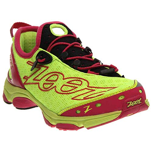 Zoot Women's W Ultra 7.0 Running Shoe,Safety Yellow/Beet/Black,7 M US