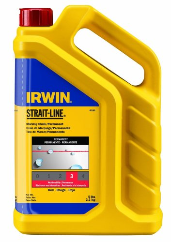 IRWIN Tools STRAIT-LINE Standard Marking Chalk, 5-pound, Red (65102) by Irwin Tools