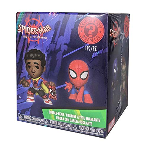 Funko – Mystery Mini Blind Box Color Marvel Spiderman Animated Color PDQ (CDU 12), multicolor, 34757  , color/modelo surtido