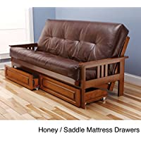 Monterey Futon Sofa with Oregon Trail Saddle Mattress