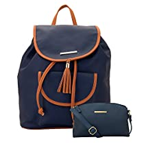 Lapis O Lupo Combo Lilac Women Backpack and Sling Bag (BlueBlue)