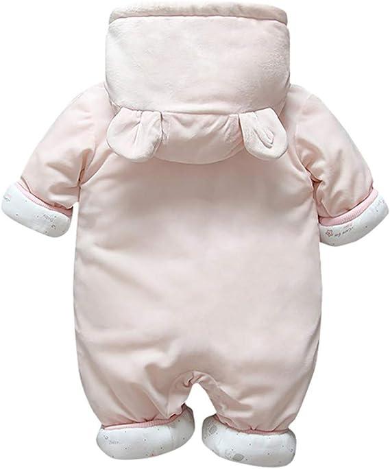 Bebé ReciéN Nacido Engrosamiento Ropa Warmsuit Mono con Botones Traje De AlgodóN A Prueba De Viento Chaqueta con Capucha Lindo Abrigo Informal Pijama Ropa De Invierno para BebéS(Azul, 2-6 meses/66): Amazon.es: Ropa