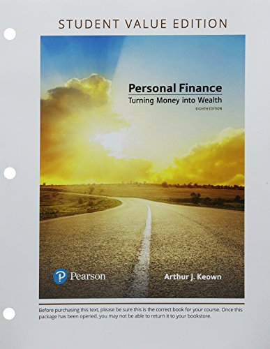 Personal Finance, Student Value Edition Plus MyLab Finance with Pearson eText -- Access Card Package (8th Edition) (The Pearson Series in Finance)
