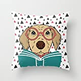Slimmingpiggy Throw Christmas Pillow Covers Of Dogs For Bedding Car Drawing Room Car Seat Sofa Saloon 16 X 16 Inches / 40 By 40 Cm(2 Sides)