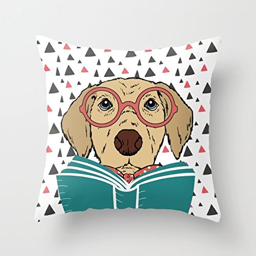 Price comparison product image Slimmingpiggy Throw Christmas Pillow Covers Of Dogs For Bedding Car Drawing Room Car Seat Sofa Saloon 16 X 16 Inches / 40 By 40 Cm(2 Sides)
